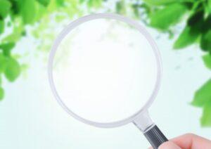 虫眼鏡で調べる画像