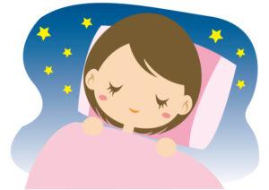 睡眠で休息をとる女性
